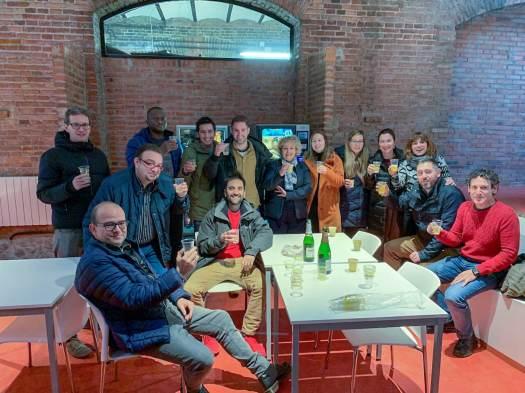 Café copa de Navidad Edificio Cristasa Impulsa Gijón 2018