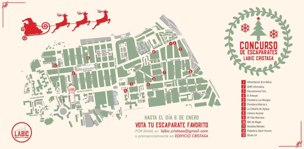 Concurso escaparates Navidad 2018 Cristasa Impulsa Gijón