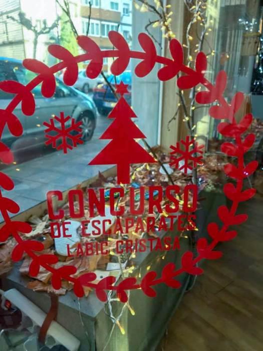 Concurso de escaparates de Navidad Labic Cristasa Impulsa Gijón 2018