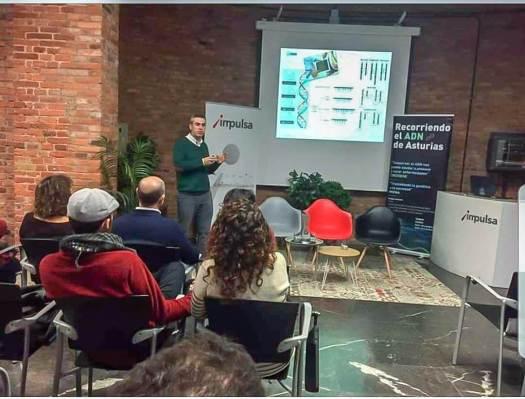 Charla de laboratorio Criogene ADN Asturias en edificio Cristasa Impulsa Gijón