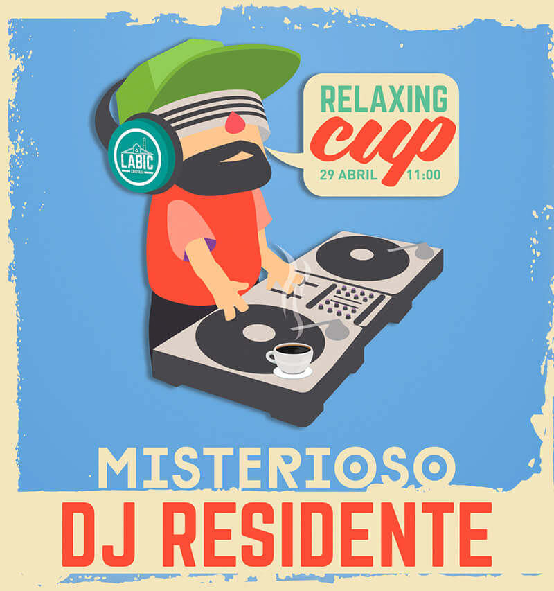 Misterioso dj residente Labic Cristasa Relaxing Cup abril 2019 Gijón Puzzle Pro Works