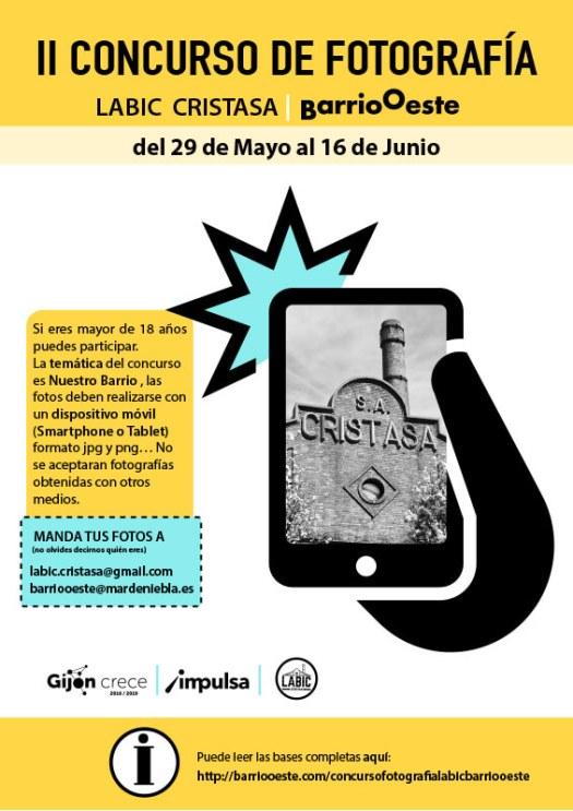 Concurso de fotos Labic Cristasa Barrio Oeste junio 2019 de Gijón Impulsa